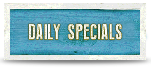 daily specials beach sign